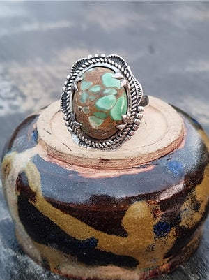 Image of Sterling Silver Ring - oval Variscite