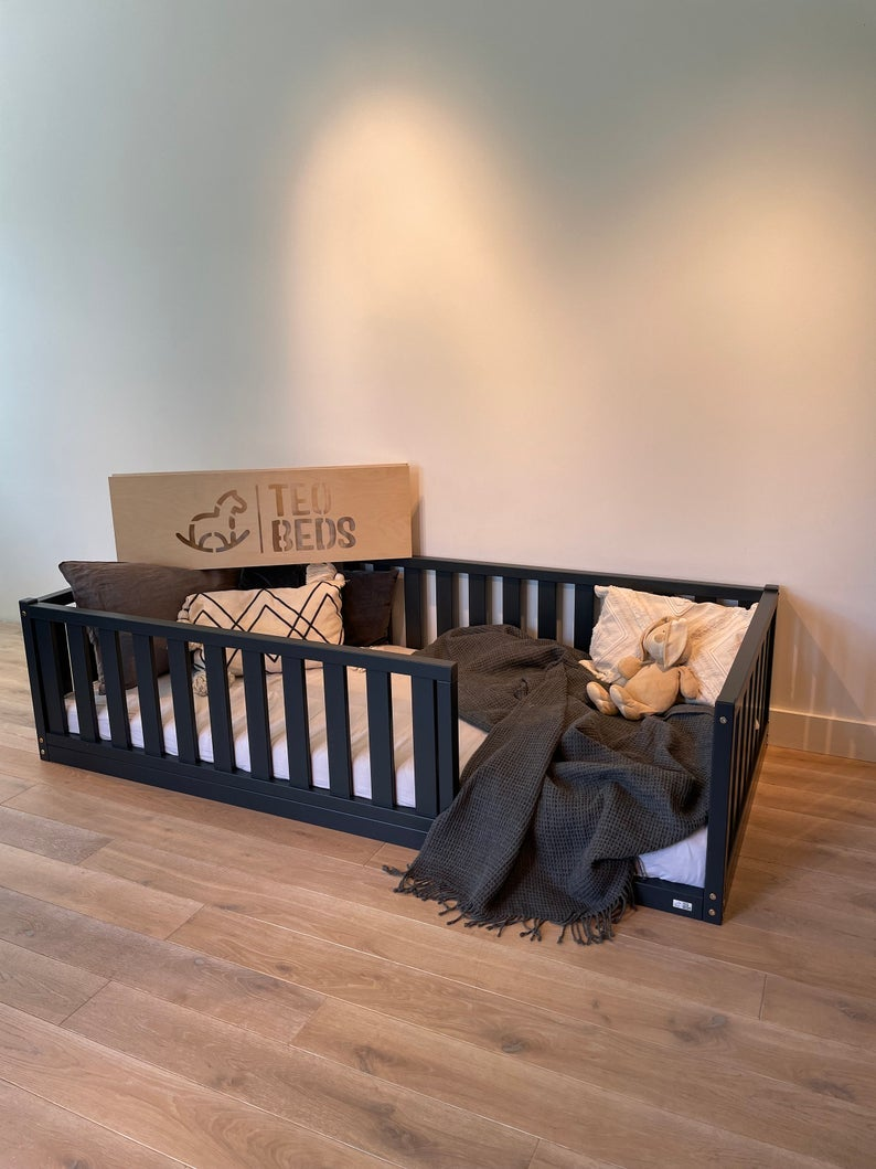 TWIN SIZE montessori BED 39''x75'' with bed rails Teo Beds free' shipping