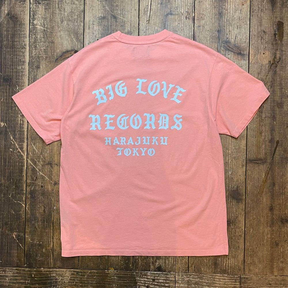 Image of BIG LOVE CLASSIC LOGO -SALMON PINK- T-SHIRT