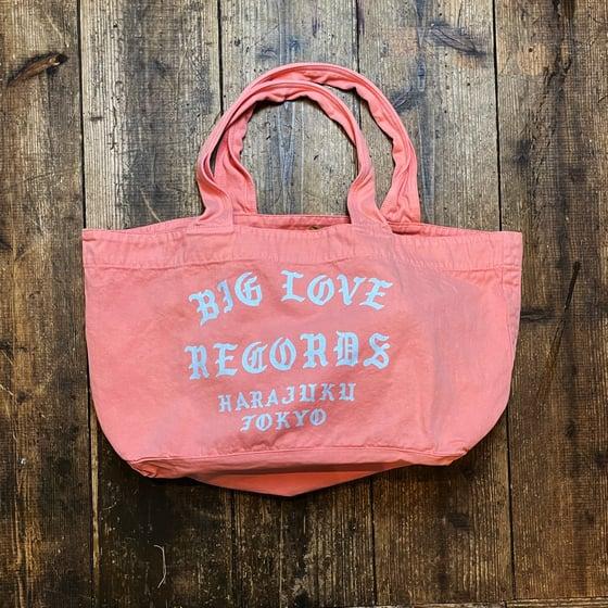 Image of BIG LOVE CLASSIC LOGO -SALMON PINK- TOTE BAG