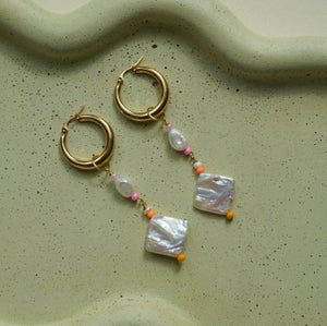 Image of Gold Plated Chunky Hoops