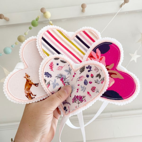 Image of Joules Fabric Heart Bookmarks