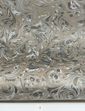 Marbled Paper Gouache Neutral Tones Drawn Stone - 1/2 sheets