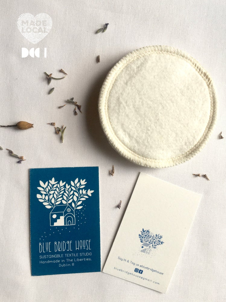 Image of Hemp & Organic Cotton Reusable Face Wipes - Pack of 5 // Pack of 3