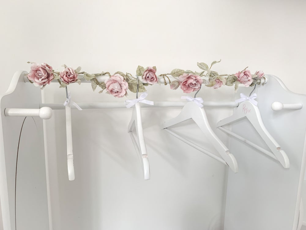 Image of Rose Garland (to be purchased with our Mirrors or Dress Stations ONLY)