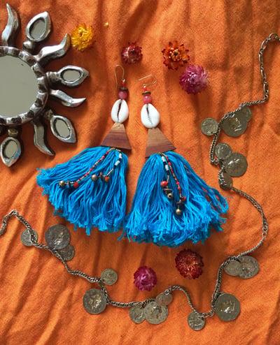 Image of ~• Blue Bliss Tassels•~