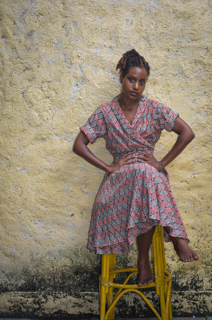 Image of The Wahine Vintage Wrap Dress