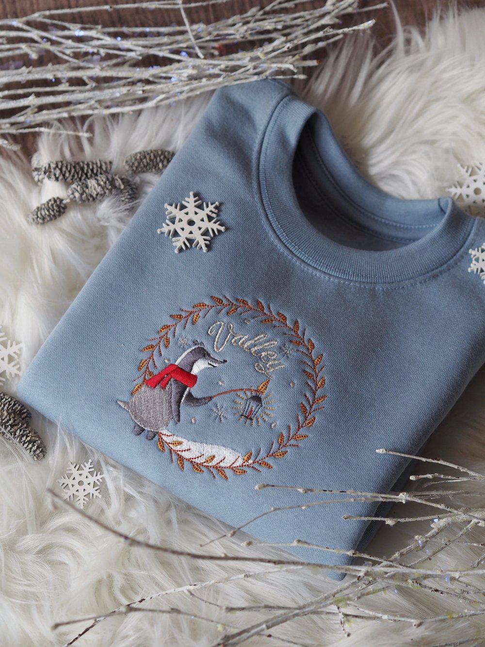 Image of A Winter Night - Dusty Blue Sweater