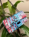 """Blueberry"" Graffiti Bag"