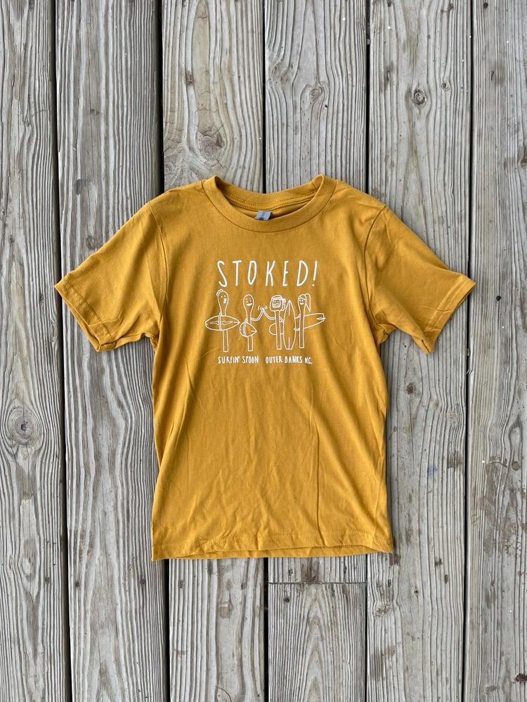 Image of STOKED Kids Tee - Mustard Tee