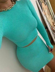 Image of Mint High Neck Thumbhole Top OR Co-Ord