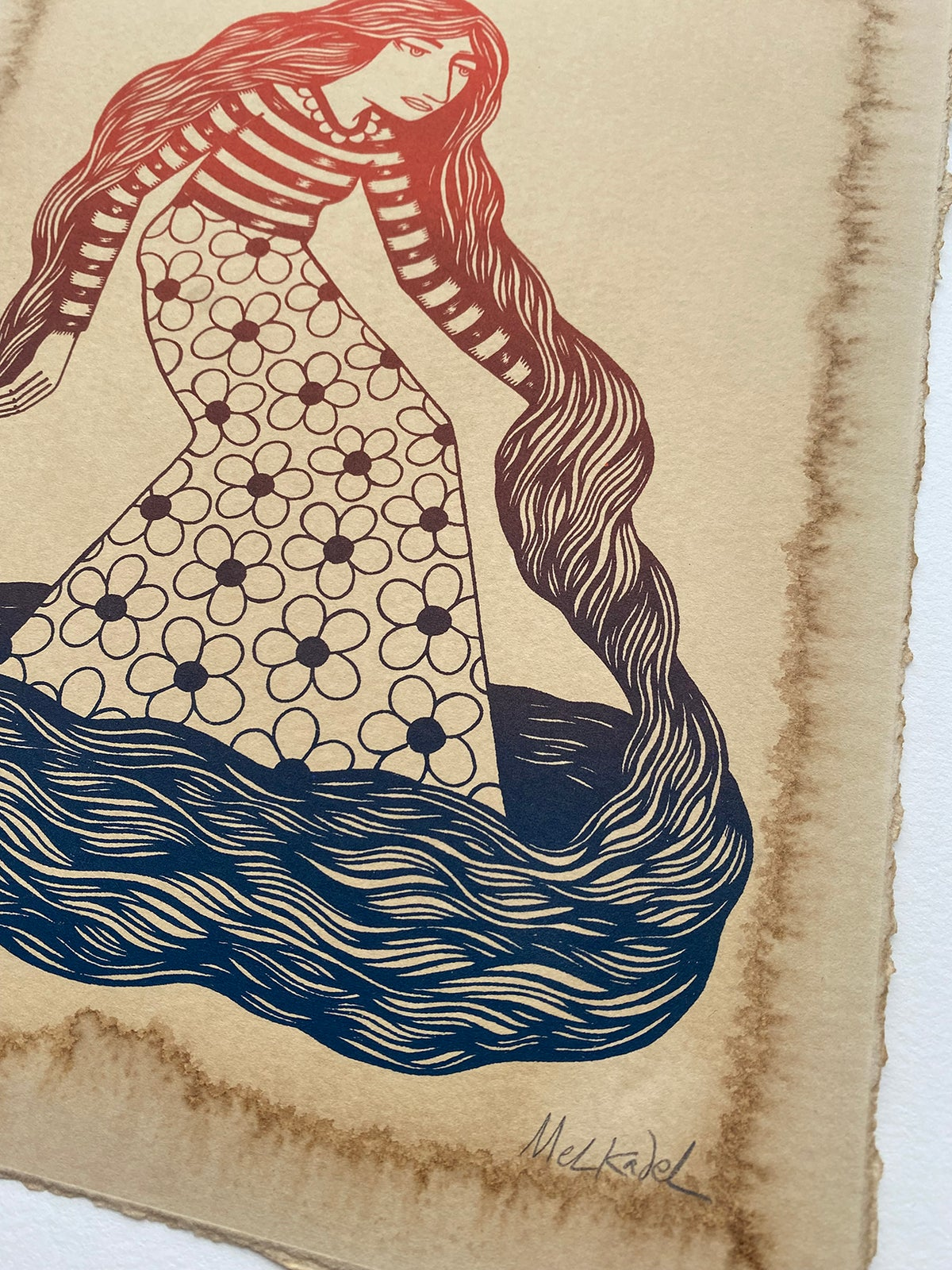 Image of BODY OF WATER - print