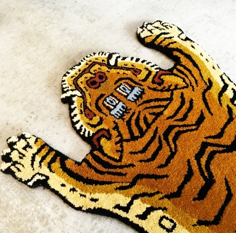 Image of Handcraft Tibetan Wool Tiger Rug A - XL size (special listing for Arya)