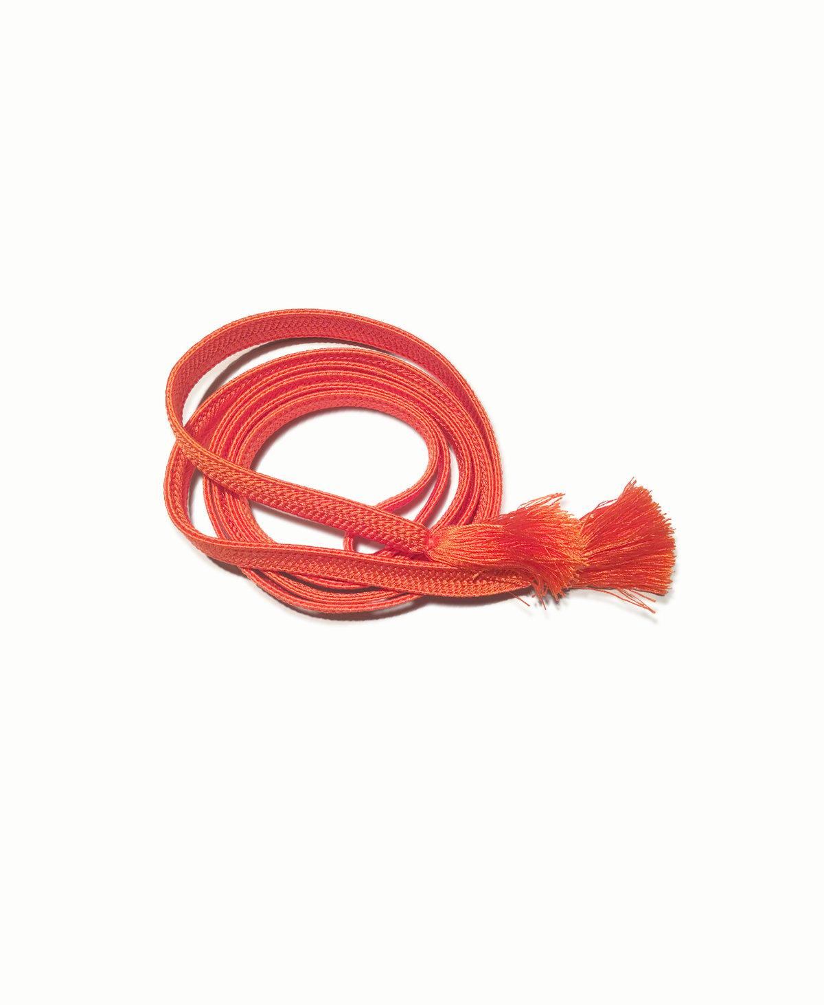 Image of Orangerødt silkebælte