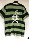 Pylons Scribble Tee - L - Green/Black