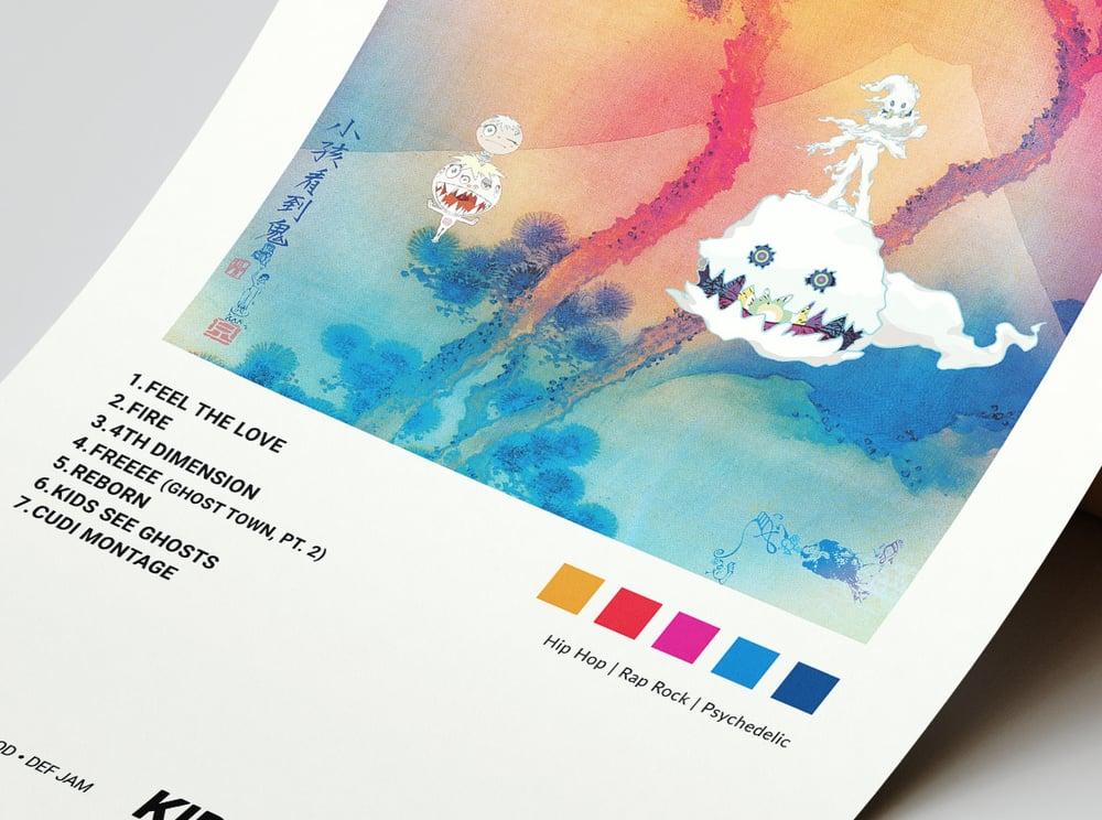 Kids See Ghosts - Kids See Ghosts, Kanye West & Kid Cudi Album Cover Poster