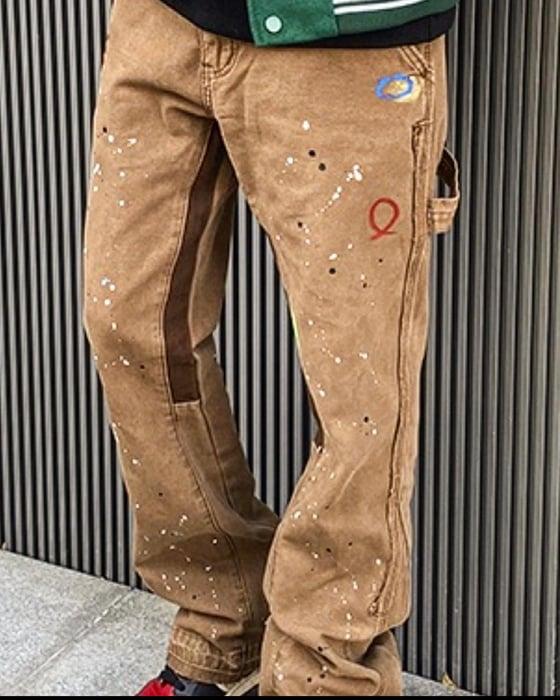 Image of HotBread wide leg  carpenter denim