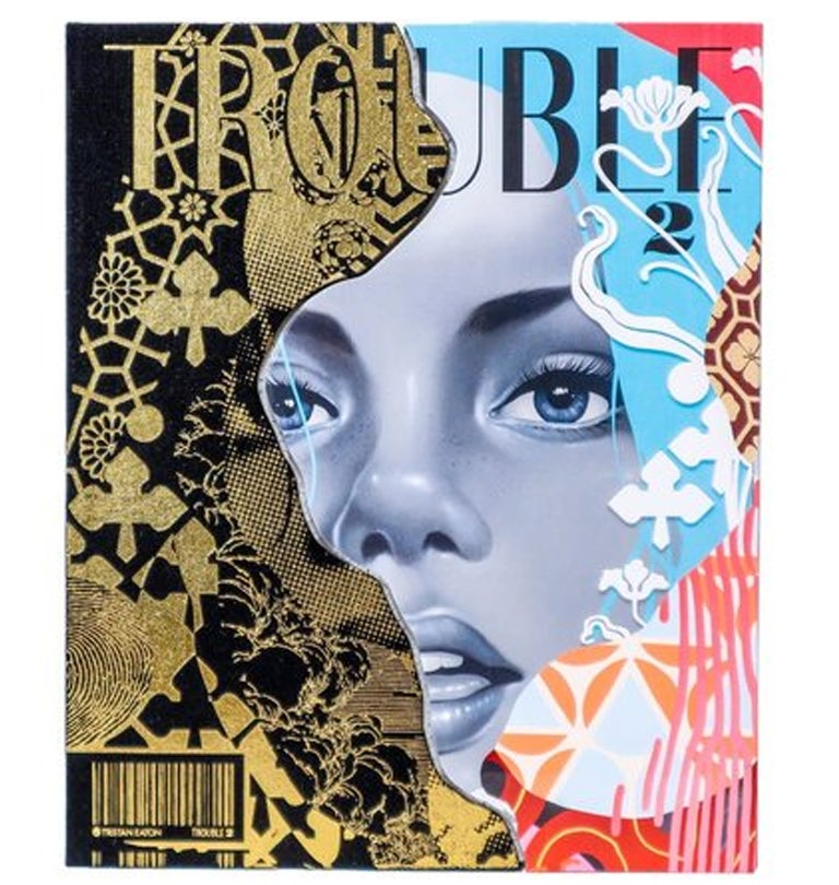 Image of TRISTAN EATON'S  HARD COVER BOOK TROUBLE #2 NEW