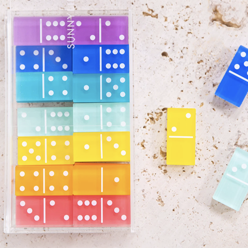 Image of LUCITE TRAVEL DOMINOES