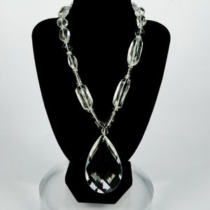 Image of Large crystal statement necklace
