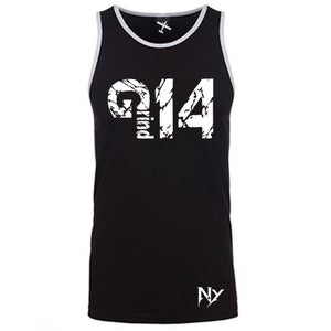 Image of EXCLUSIVE GRIND FOURTEEN  AND GRIND14 TANKTOP BLACK AND WHITE VERSION