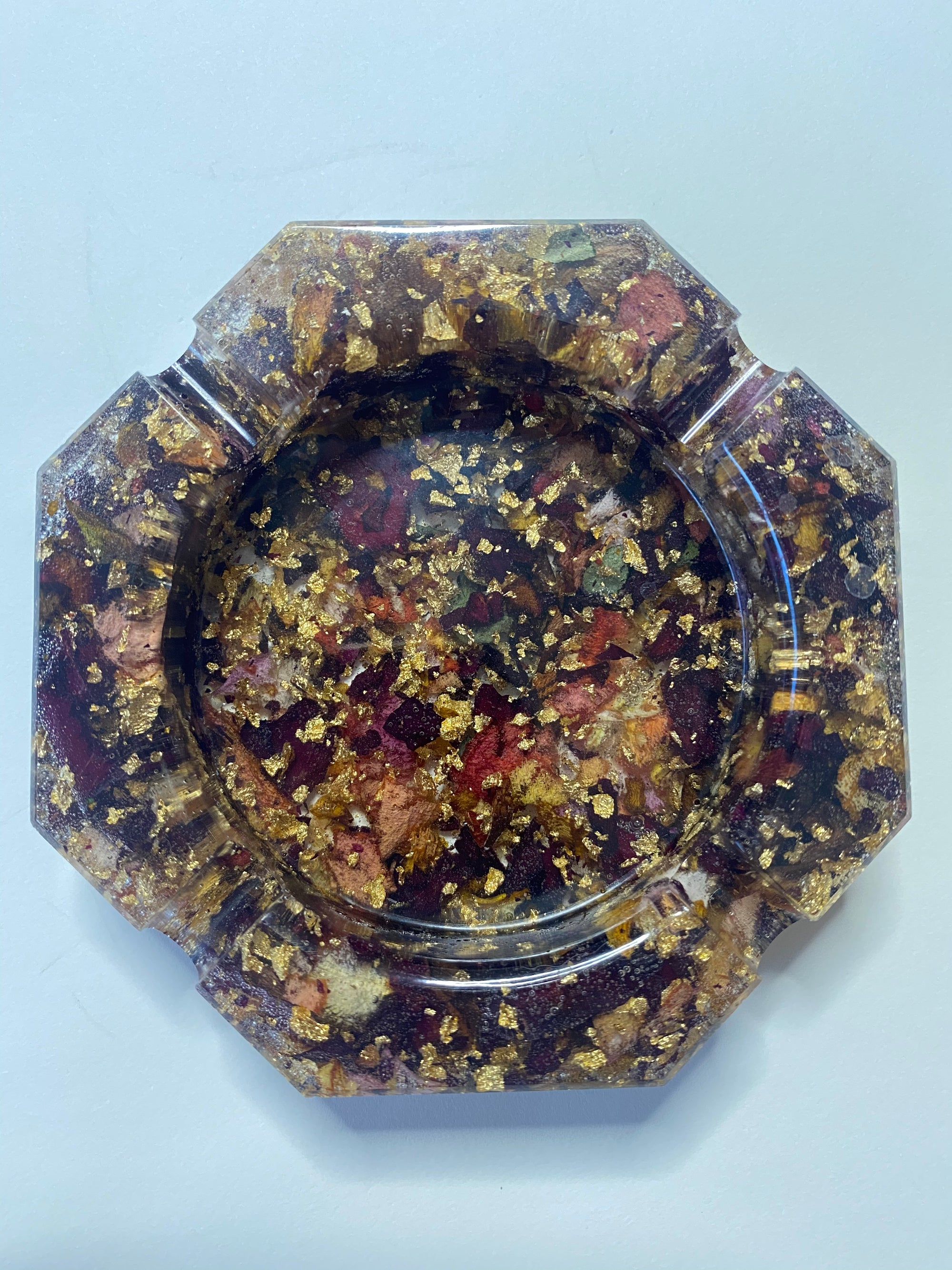 Image of  Rose octagon resin tray