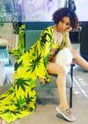 Yellow Canary Cannabis Kimono