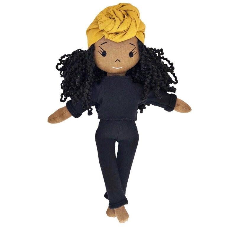 Indigo Handmade Linen Doll (Waitlist Preorder Item - ship date Oct 1-Mar 30,2022)