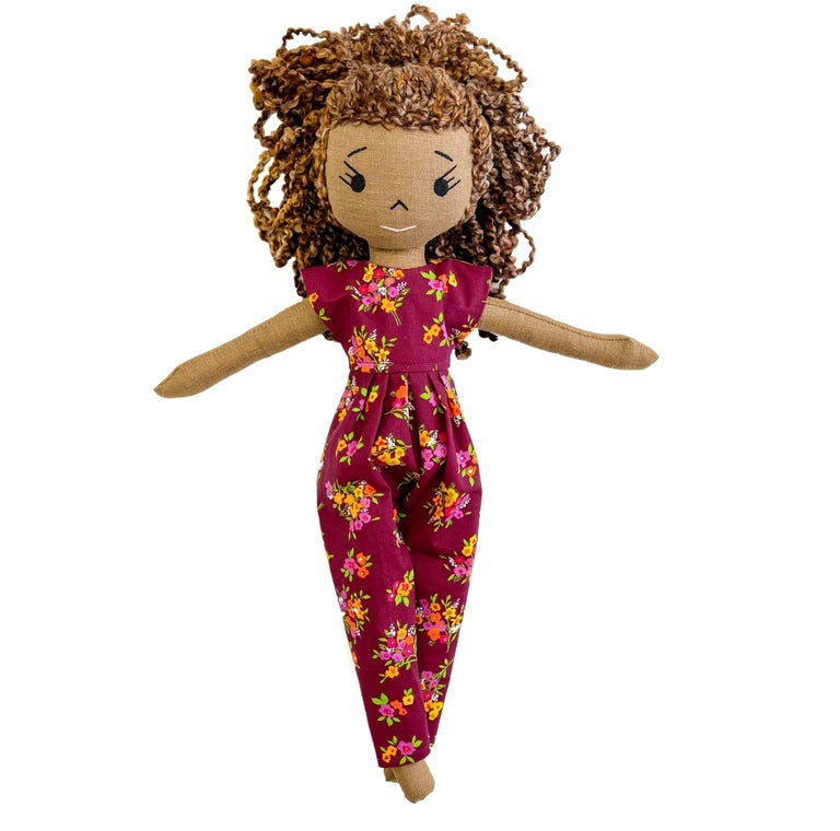 Brielle Handmade Linen Doll (THIS ITEM WILL SHIP ON OR BEFORE OCTOBER 10th)
