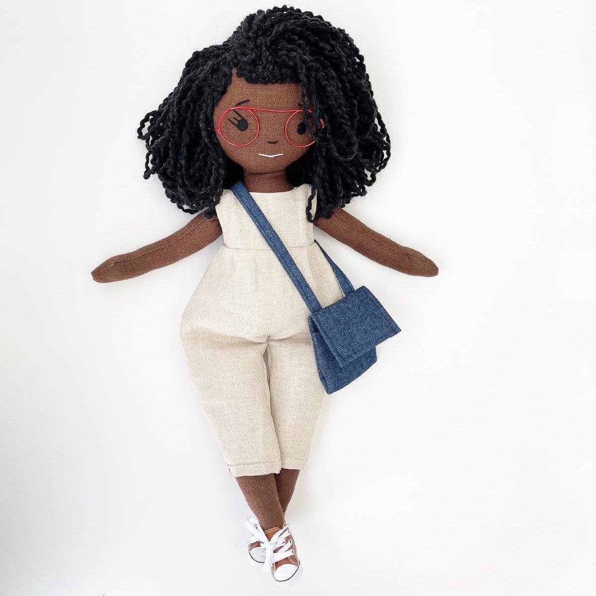 Back to School Brenn Handmade Linen Doll (Waitlist Preorder Item - ship date Oct 1-Mar 30,2022)