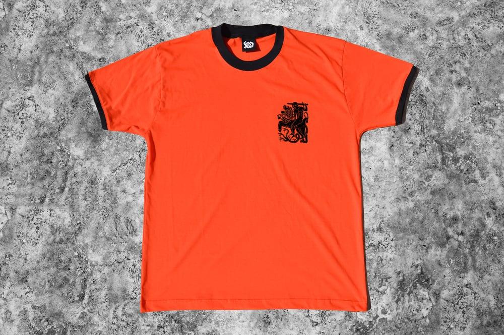 """Image of """"Invictus"""" Orange Ringer T-Shirt"""