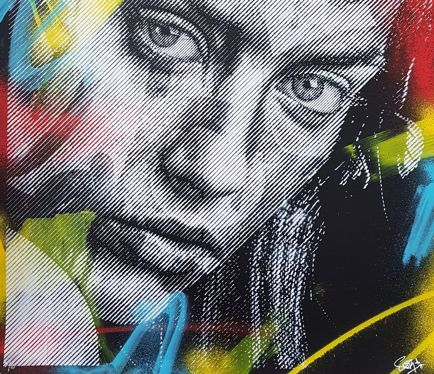 """Image of SNIK """"COLD TENDERNESS"""" HAND PAINTED ORIGINAL ON PAPER - 100CM X 74CM"""