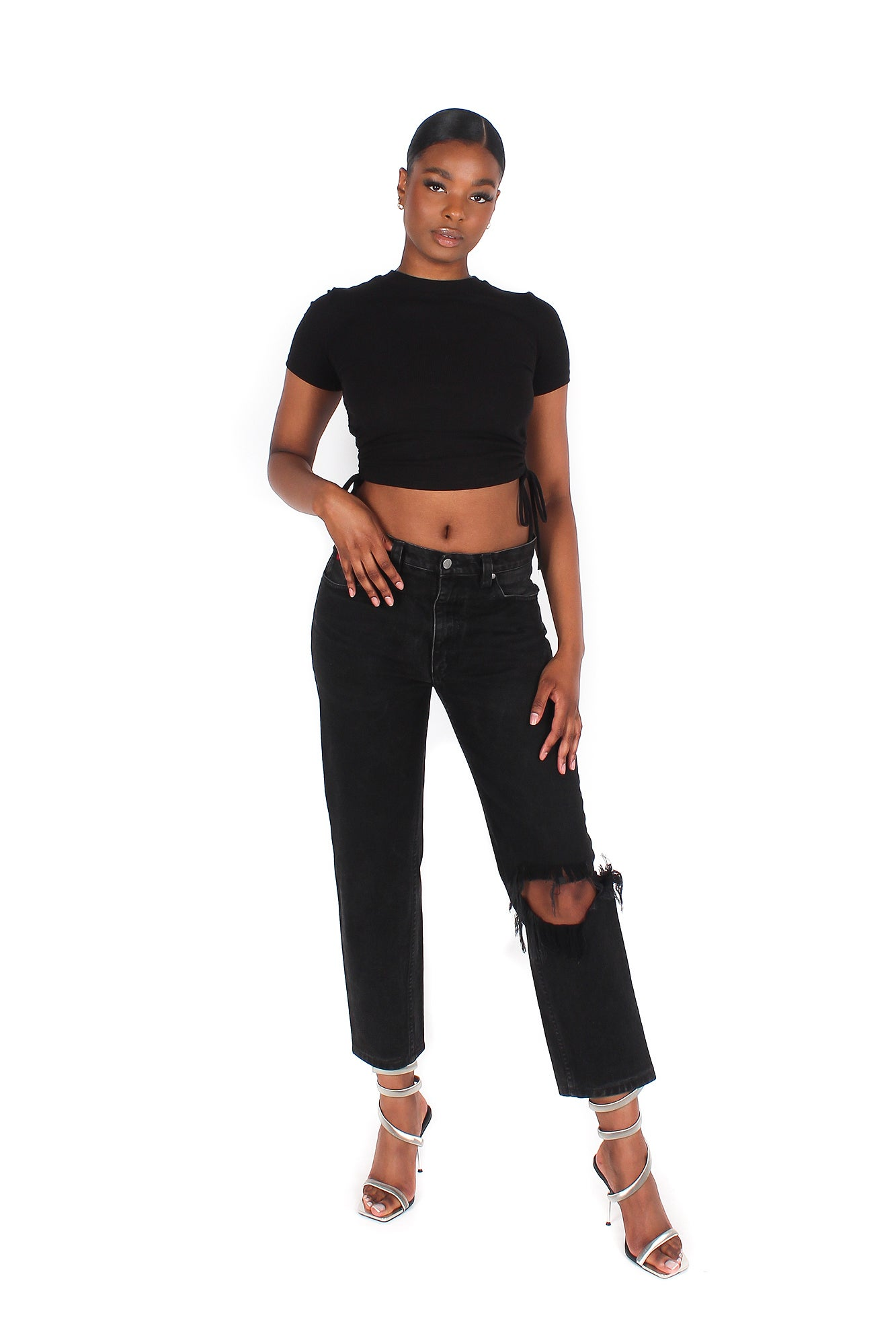 Image of 'COWGIRL' SHREDDED JEANS