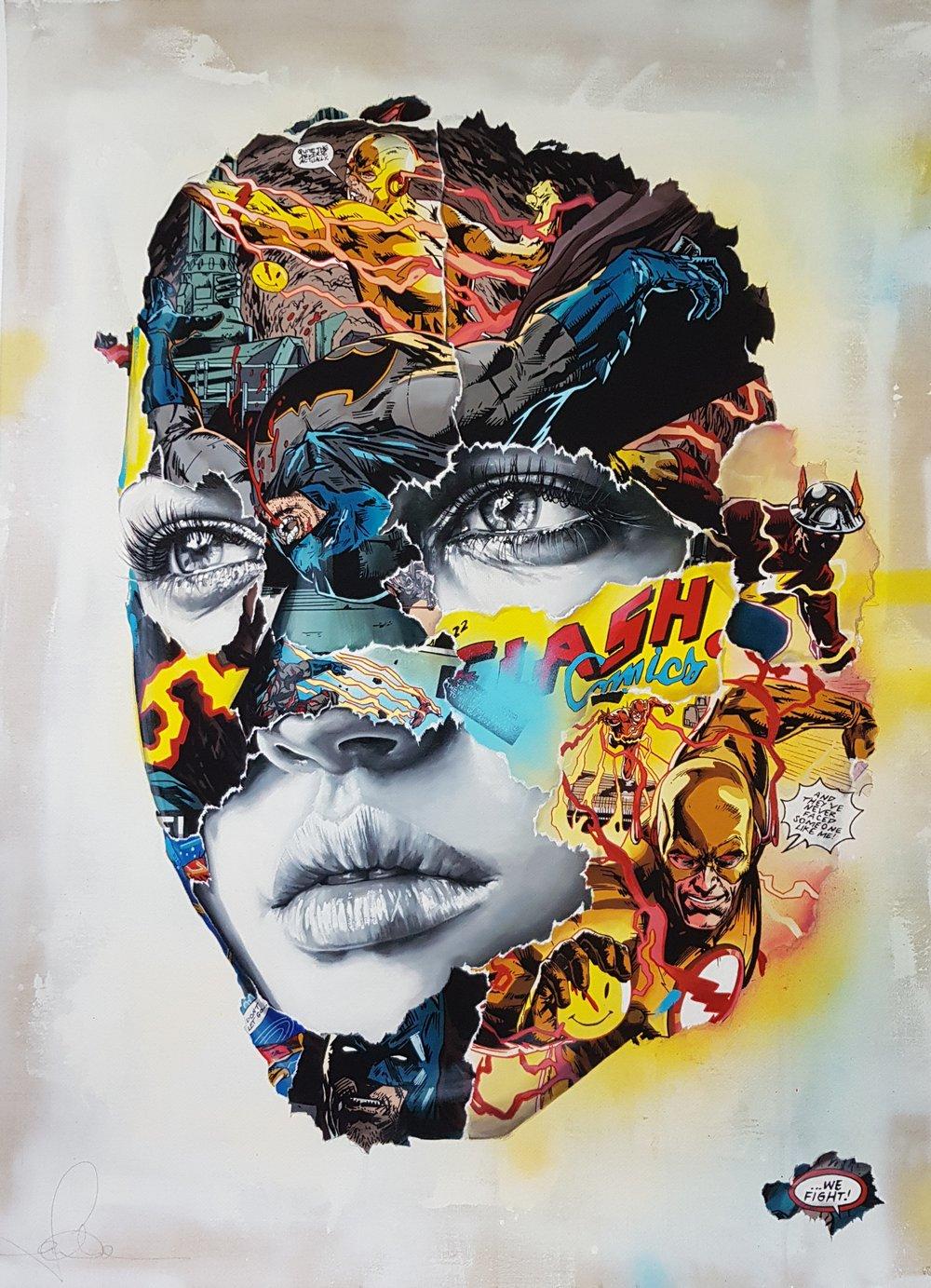 """Image of SANDRA CHEVRIER """"LA CAGE DANS UN COMBAT ELECTRIQUE"""" - 94CM X 72CM - LTD ED 195"""