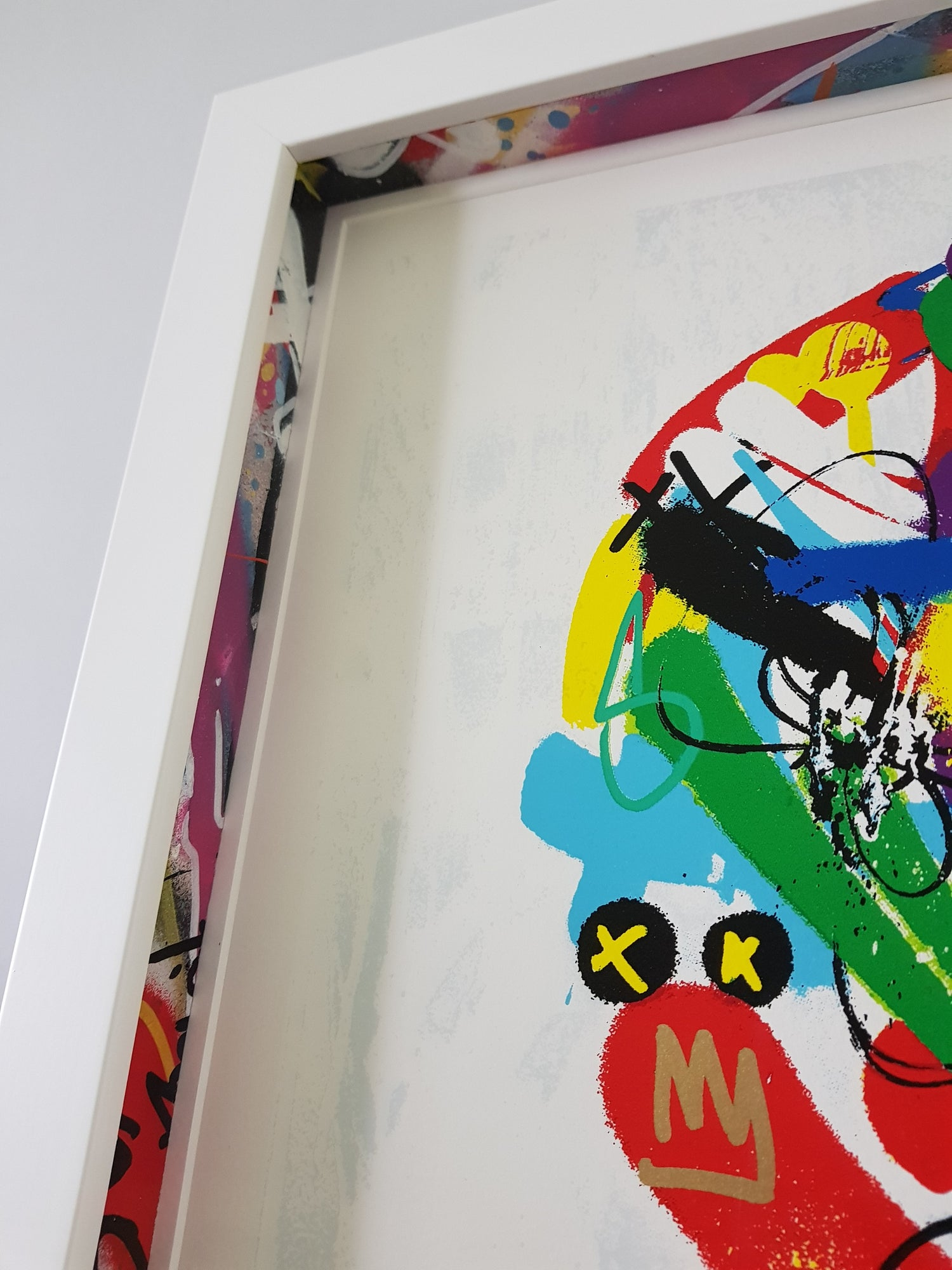 """Image of MARTIN WHATSON """"PAINT LOVE""""- FRAMED WITH CUSTOM SPACERS 24 COLOUR PRINT EDITION OF 150 - 55CM X 55CM"""