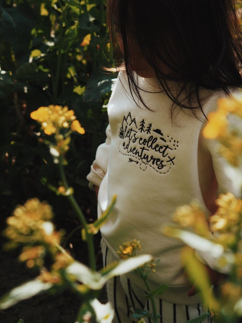 Image of Let's Collect Adventures - natural cream sweater