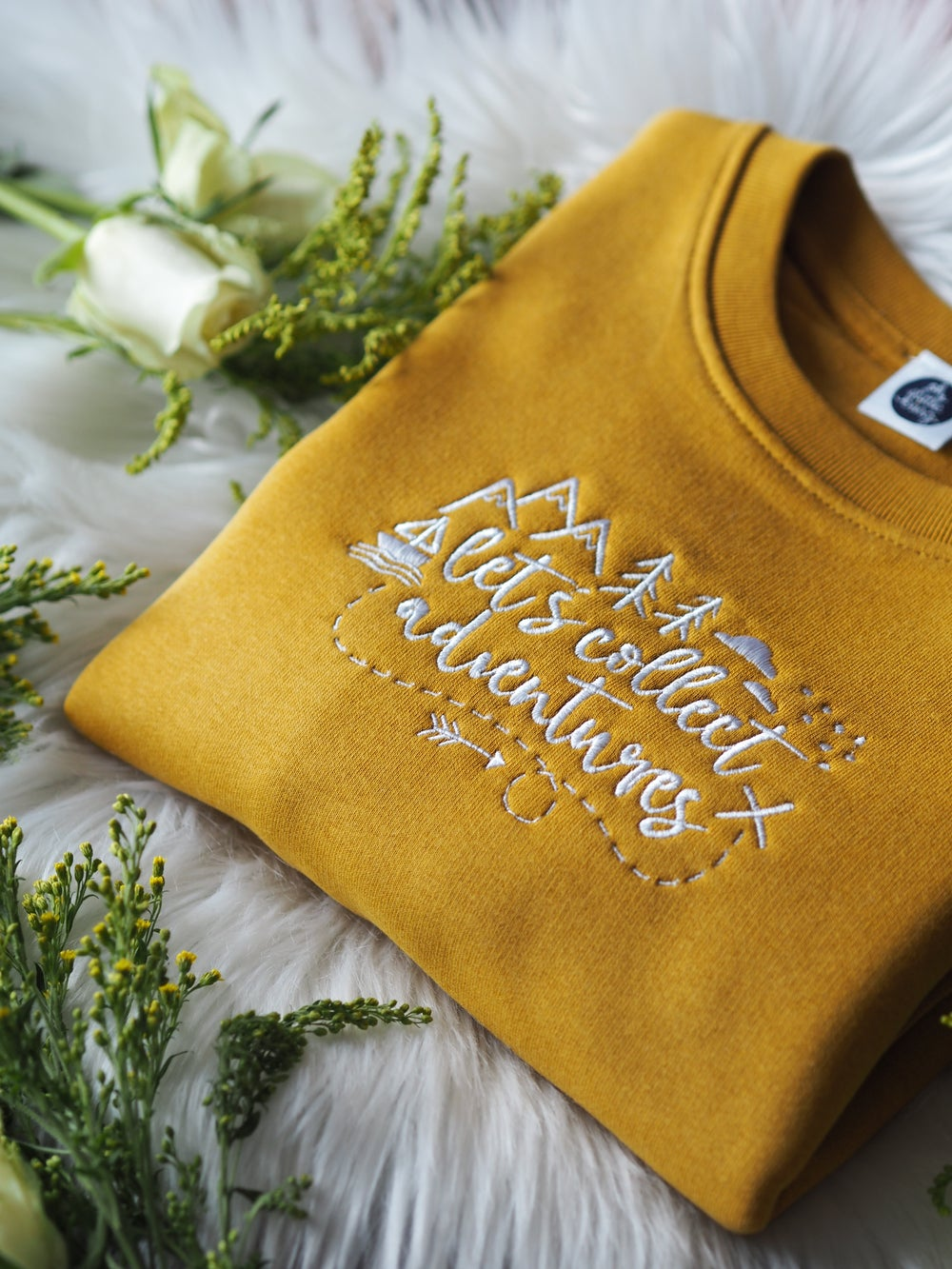 Image of Let's Collect Adventures - Mustard sweater