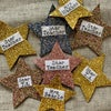 Gold Star Name Badges - Great Teacher Gifts