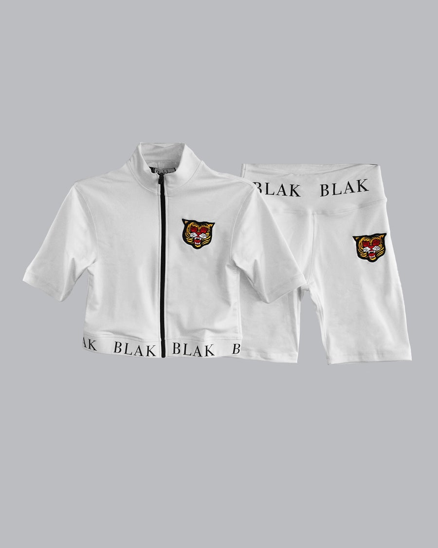 Image of The BLAK & White Womens Track Set
