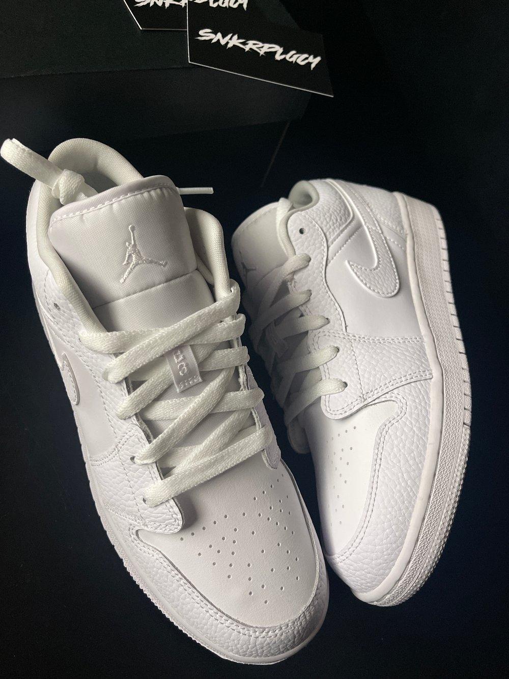 """Air Jordan 1 Low """"Triple White"""""""
