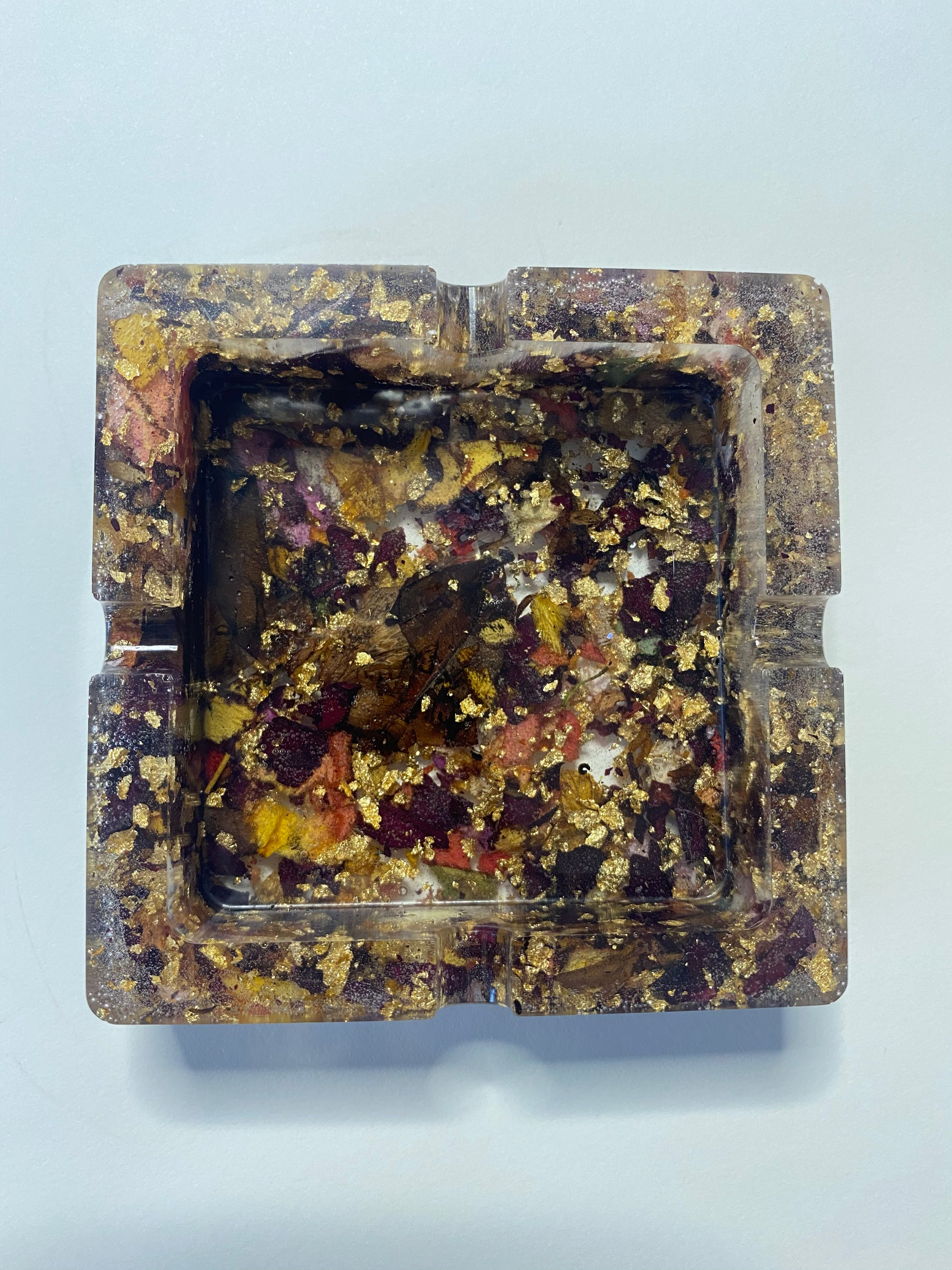 Image of Rose square resin tray