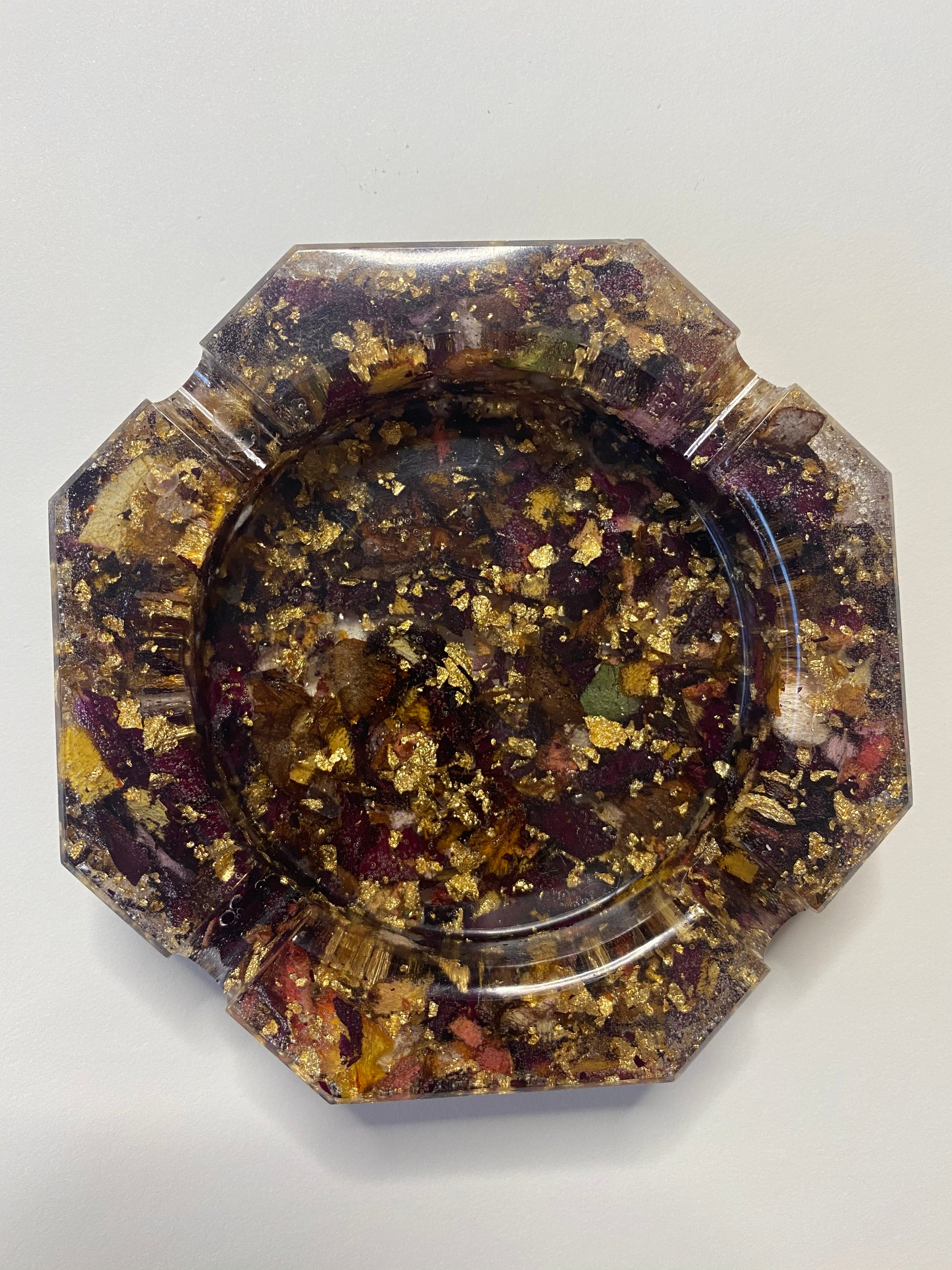 Image of Rose octagon resin tray 2