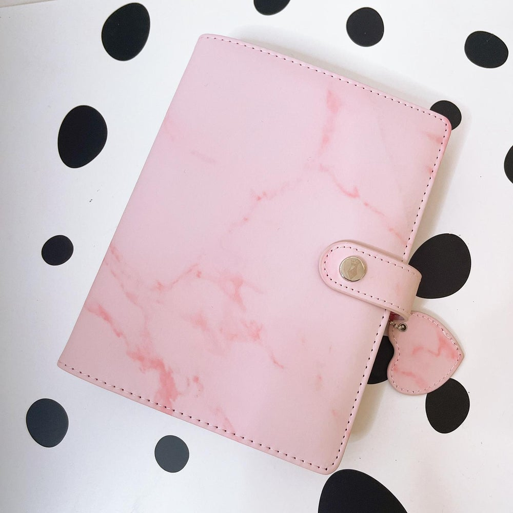 Image of POPPY PINK MARBLE PETITE PLANNER