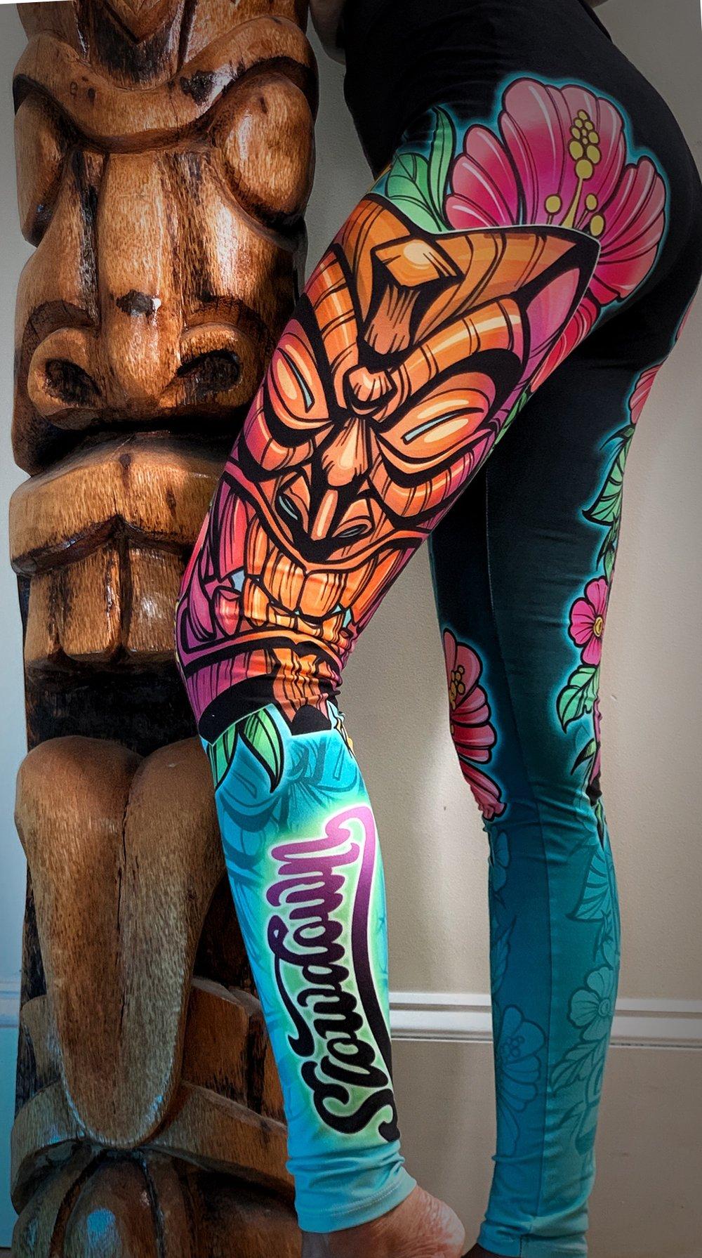 Colorful Tiki Leggings