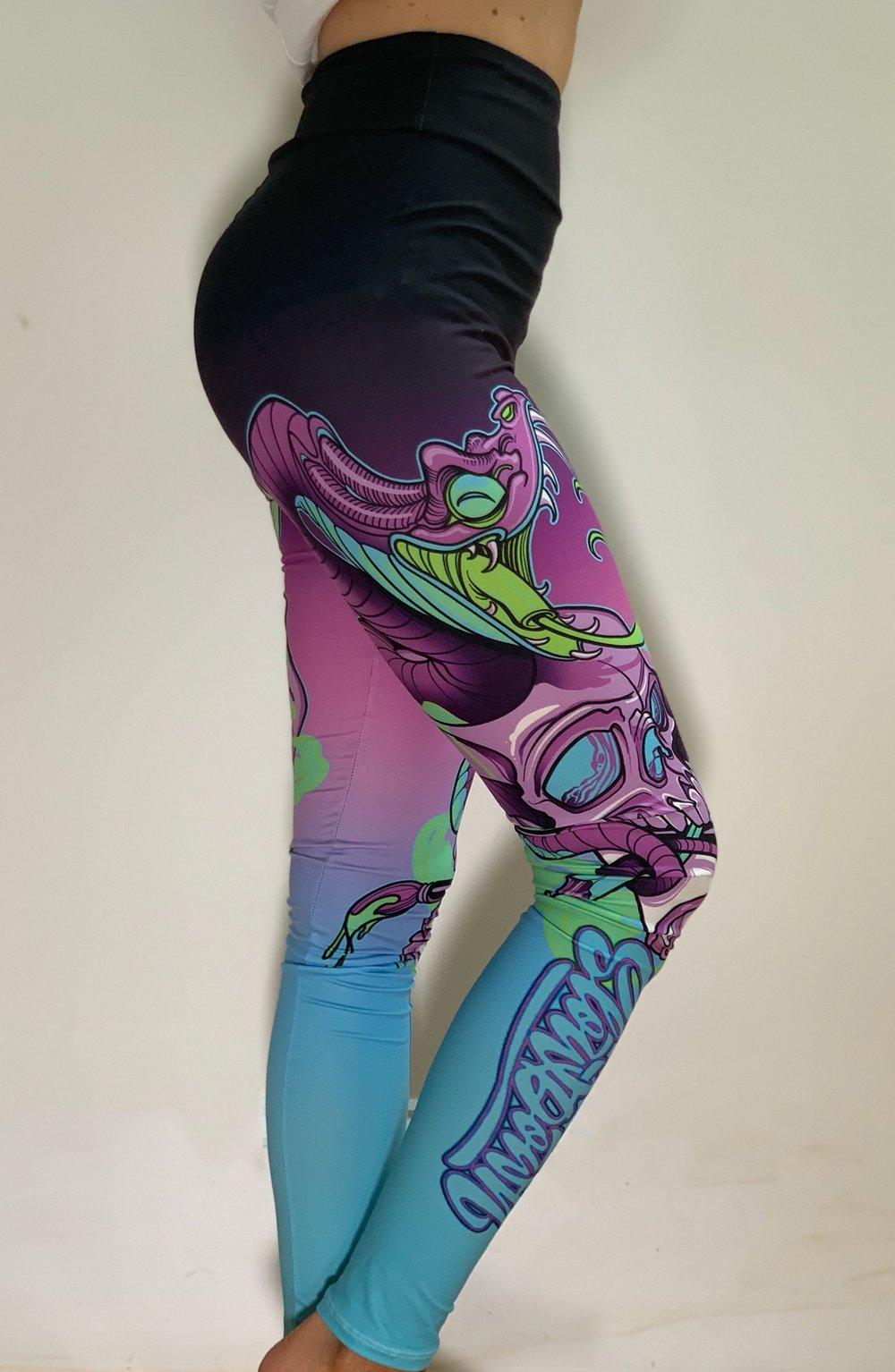 Snake Graffiti Leggings 2021 colorway