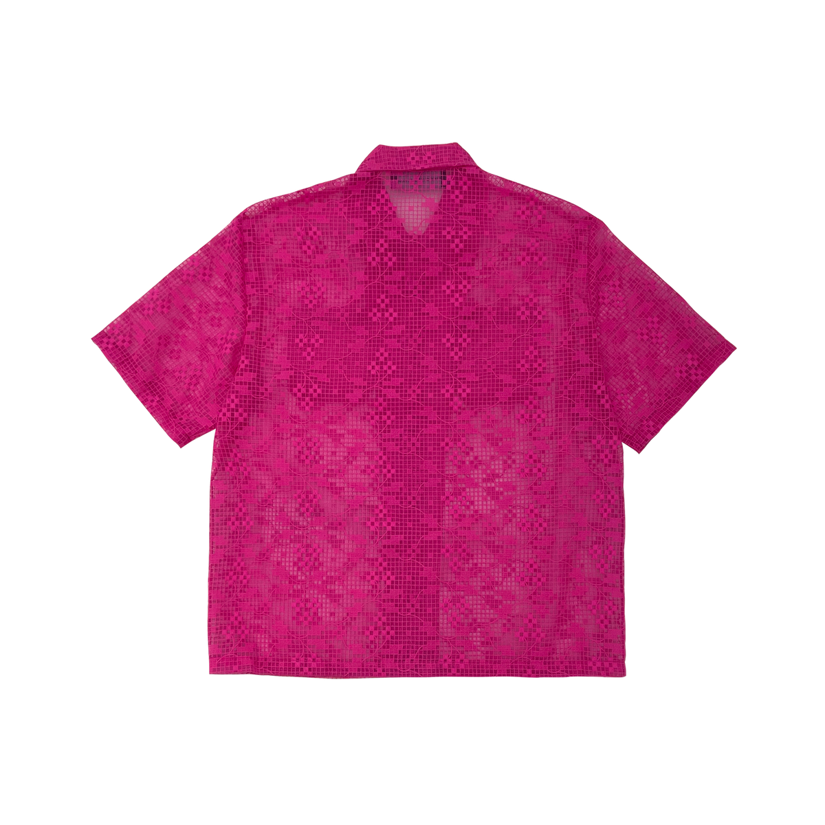 Image of FLOWERING VINE EMBROIDERY SEE-THROUGH SHIRT
