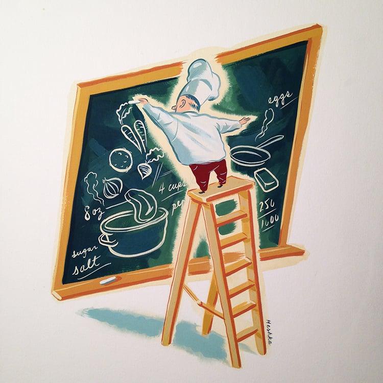 Image of Ryan Heshka - Chalk Board Chef