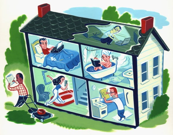 Image of Ryan Heshka - Writing at Home