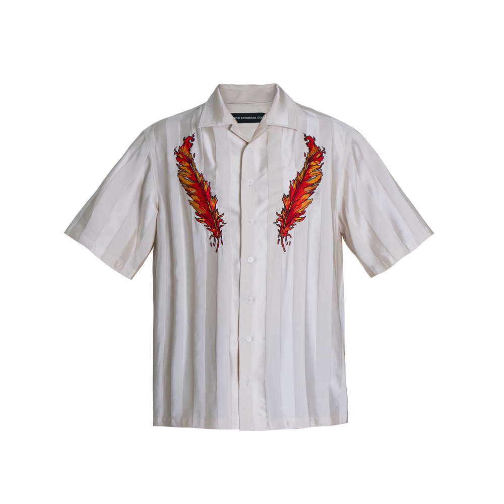 Image of BURNING FEATHER EMBROIDERY SHIRT
