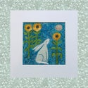 Sunflower moon- the witches garden (  framed option available)